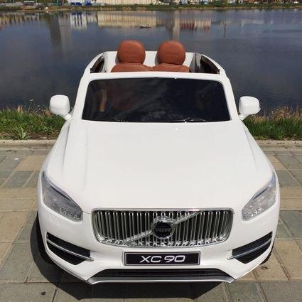 Электромобиль VOLVO XC90 белый (усиленный аккумулятор, резина, кожа, пульт, музыка, ГЛЯНЦЕВАЯ ПОКРАСКА)