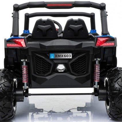 Электромобиль Buggy XMX603 Spider синий (2х местный, полный привод, колеса резина, кресло кожа, пульт, музыка)